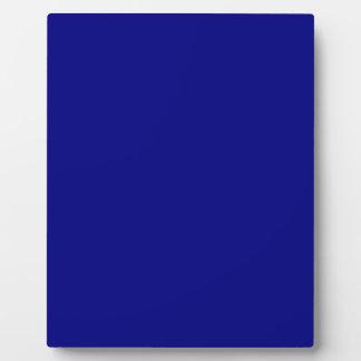Azules marinos placas de plastico