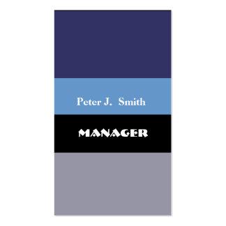 Azules marinos profesionales con clase del bloque tarjetas de visita