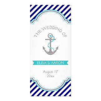 Azules marinos, programa náutico del boda de la tarjeta publicitaria personalizada