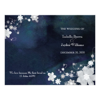 Azules marinos + Programas doblados blancos de la  Tarjeton