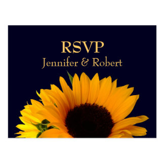 Azules marinos que casan la postal de RSVP