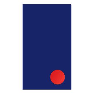 Azules marinos rojos del círculo del diseñador tarjetas de visita