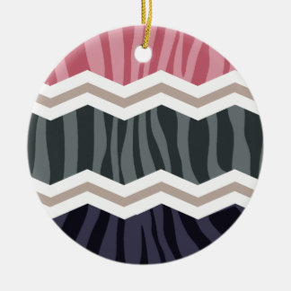 Azules marinos rosa moreno y rayas grises de la ornamento para arbol de navidad