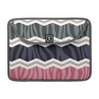 Azules marinos, rosa, moreno, y rayas grises de la fundas para macbooks