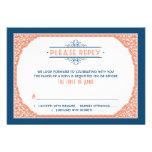Azules marinos RSVP que se casa coralino de la tip Invitacion Personalizada