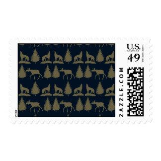 Azules marinos rústicos salvajes del moreno de los sello