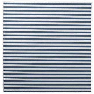 Azules marinos - servilletas blancas del paño de l