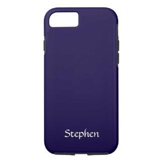 Azules marinos sólidos personalizados funda iPhone 7