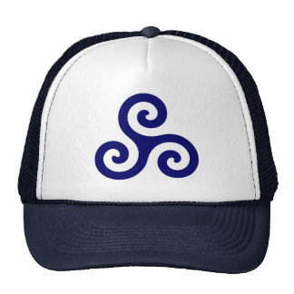 Azules marinos Triskele espiral Gorras