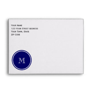 Azules marinos y blanco Houndstooth su monograma