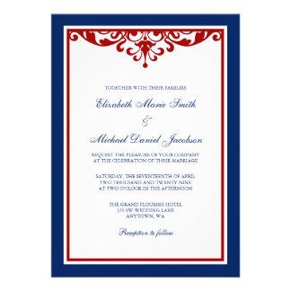 Azules marinos y boda rojo del Flourish