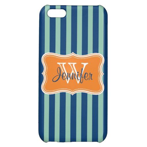 Azules marinos y iPhone personalizado de moda anar