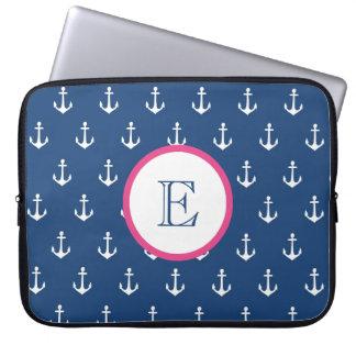 Azules marinos y manga rosada oscura del ordenador funda ordendadores