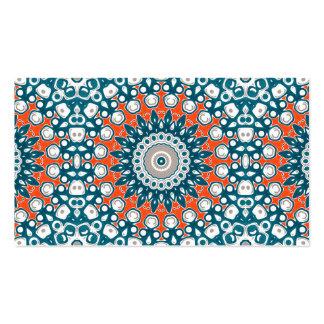 Azules marinos y naranja en el arte blanco del tarjetas de visita