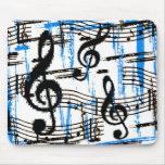 Azules Mousepad de la música Alfombrilla De Ratones