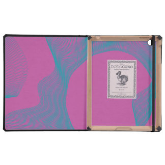 Azules ondulados impares de la magenta de las curv iPad protectores