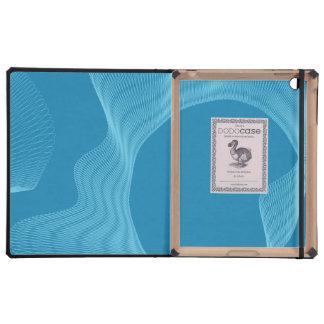 Azules ondulados impares de las curvas iPad carcasas