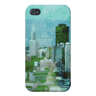 azules oxidados de la ciudad iPhone 4/4S carcasa