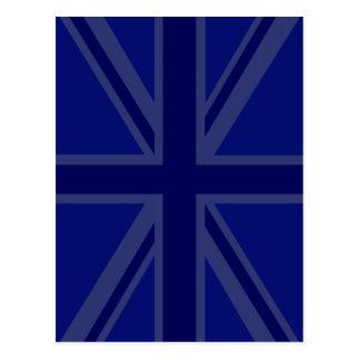 Azules para que una bandera británica de Union Jac