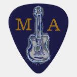 azules personalizados de la guitarra uñeta de guitarra