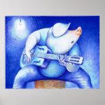 Azules porcinos poster