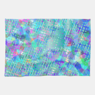 Azules psicodélicos de la diversión con una toalla de mano