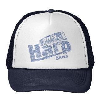 Azules sucios de la arpa gorras de camionero