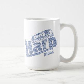 Azules sucios de la arpa taza de café