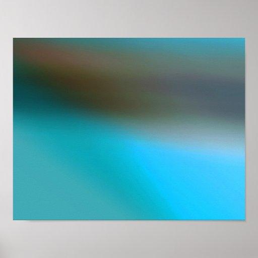 Azules turquesas Brown y extracto moderno gris #2 Impresiones