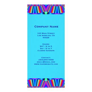 azules turquesas coloridas tarjeta publicitaria a todo color