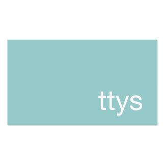 Azules turquesas de Minimalistic del Tarjetas De Visita