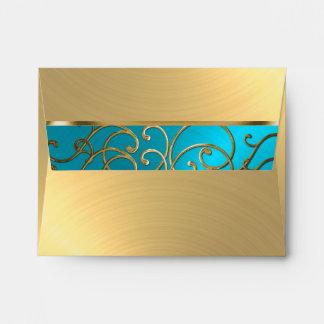 Azules turquesas de Quinceanera y remolino Sobre