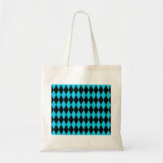 Azules turquesas del trullo y modelo del diamante  bolsa
