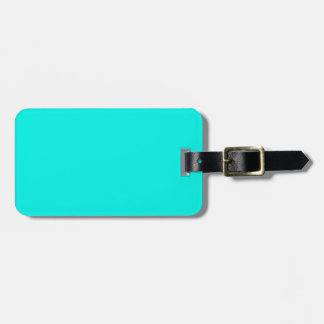 Azules turquesas fluorescentes del trullo de la etiquetas bolsas