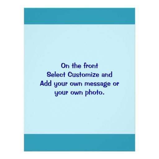 """Azules turquesas folleto 8.5"""" x 11"""""""