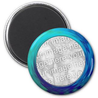 azules turquesas imán redondo 5 cm
