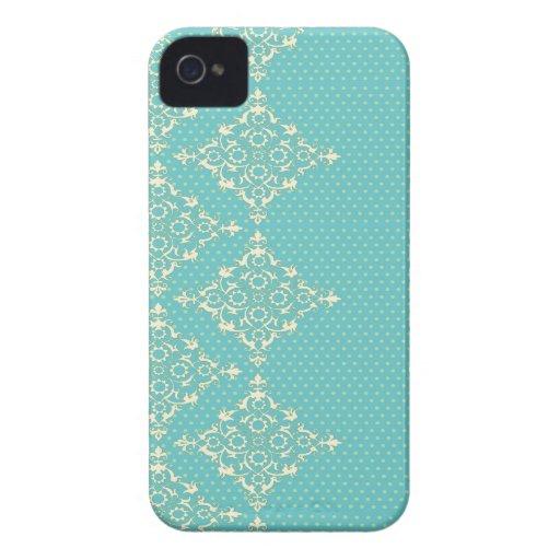 Azules turquesas/iphone verde 4 del modelo de punt Case-Mate iPhone 4 carcasa