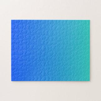 Azules turquesas Ombre Rompecabeza