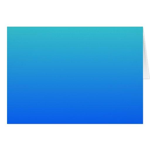 Azules turquesas Ombre Tarjeta De Felicitación