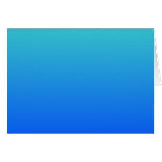 Azules turquesas Ombre Tarjetón