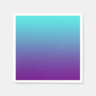 Azules turquesas simples de la púrpura del fondo servilleta de papel