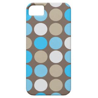 Azules turquesas y modelo moderno de los puntos de iPhone 5 fundas