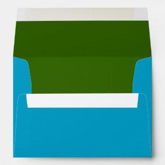 Azules turquesas y verde sobre