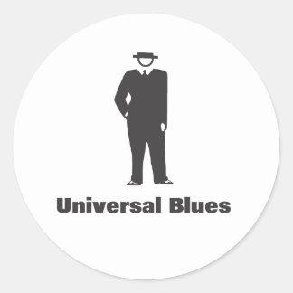 Azules universales pegatina redonda
