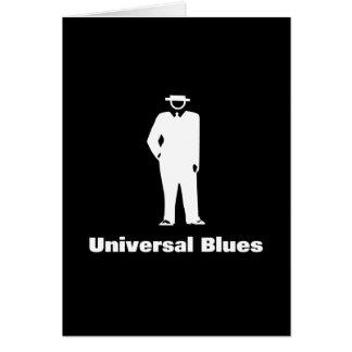 Azules universales tarjeta de felicitación
