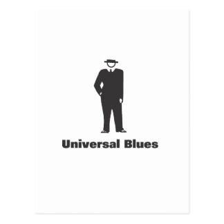 Azules universales tarjeta postal