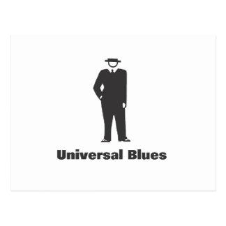 Azules universales tarjetas postales