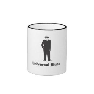 Azules universales taza de café