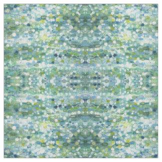 Azules, verde, amarillo y tela 'Clearwater de la Telas