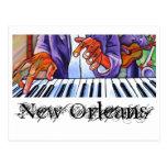Azules visuales: Tarjetas del artista: New Orleans Postal